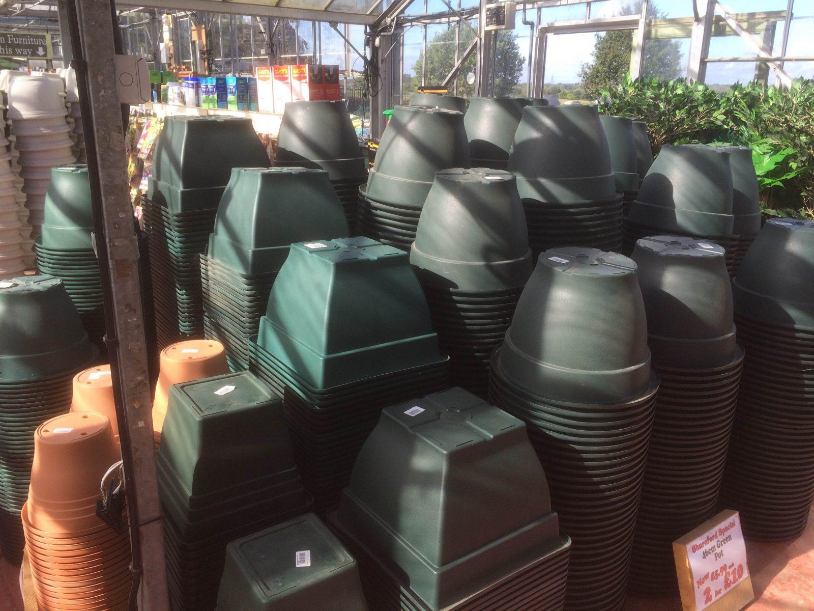 Green Plastic Pots Sharnford Garden Centere