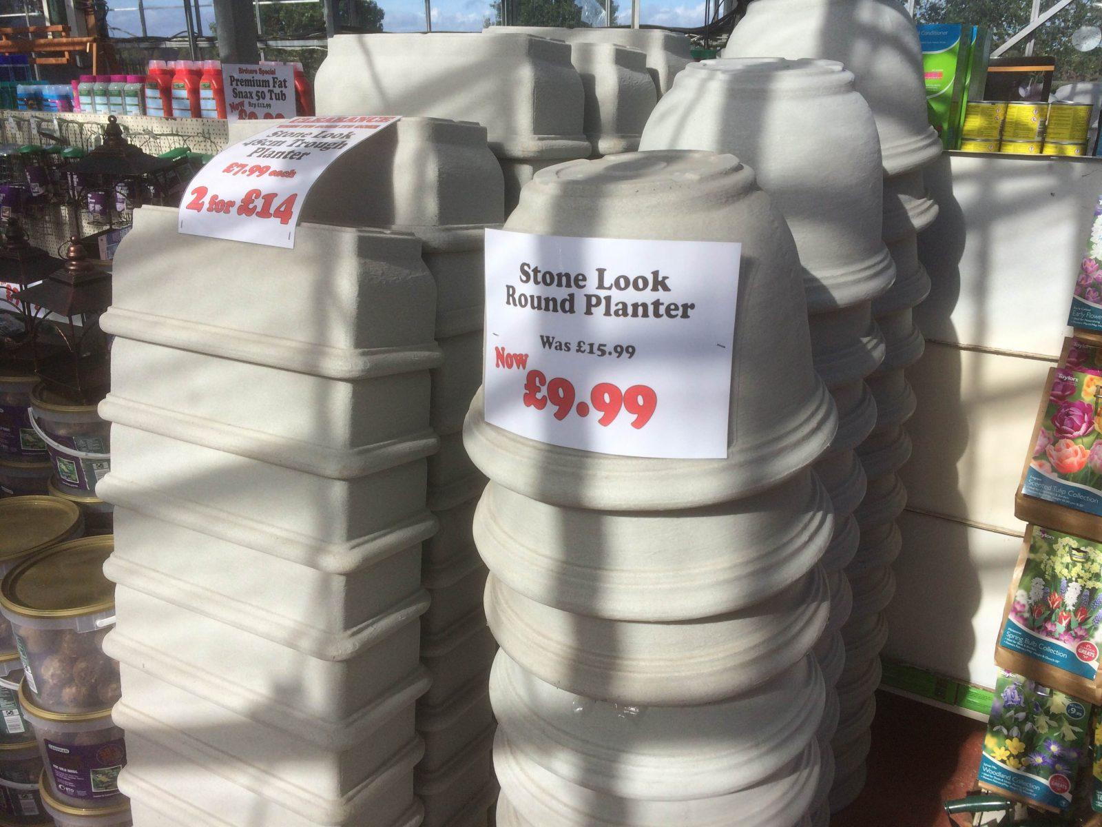 Stone Plastic Pots Sharnford Garden Centere